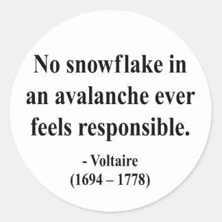 Voltaire Quote 6a Classic Round Sticker