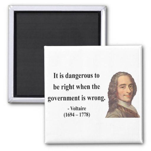 Voltaire Quote 7b 2 Inch Square Magnet