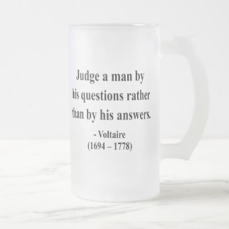 Voltaire Quote 8a Frosted Glass Beer Mug