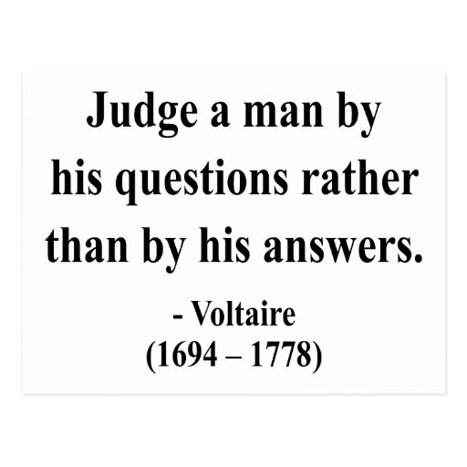 Voltaire Quote 8a Postcard