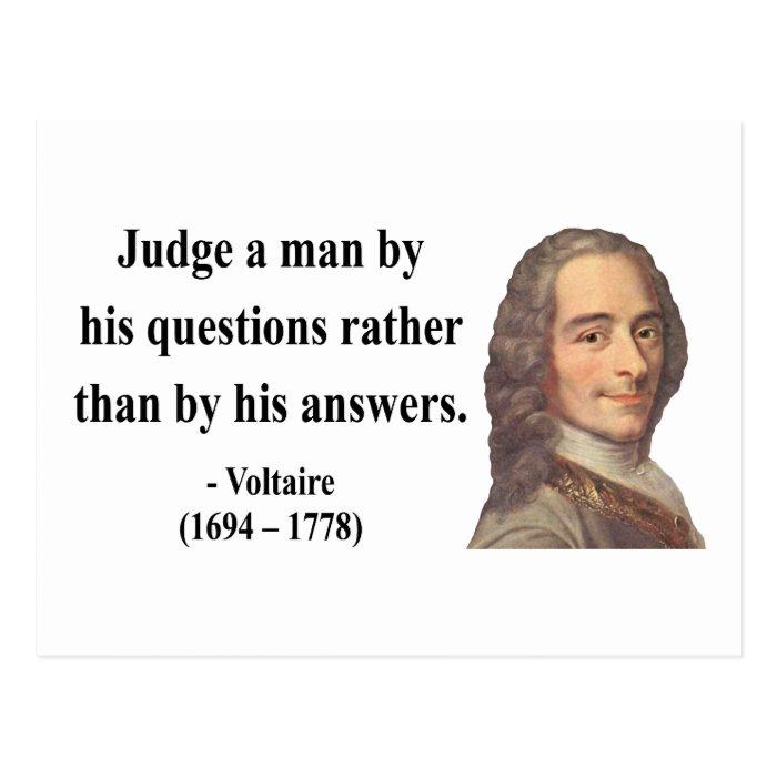 Voltaire Quote 8b Postcard