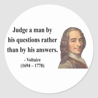 Voltaire Quote 8b Round Stickers