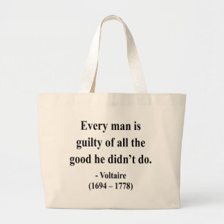 Voltaire Quote 9a Canvas Bags