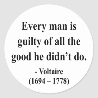 Voltaire Quote 9a Classic Round Sticker
