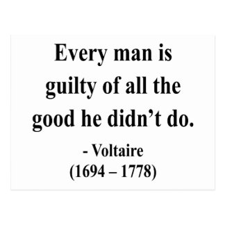 Voltaire Quote 9a Postcards