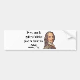 Voltaire Quote 9b Bumper Stickers