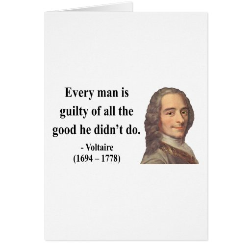 Voltaire Quote 9b Card