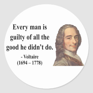 Voltaire Quote 9b Classic Round Sticker