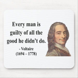 Voltaire Quote 9b Mouse Pad