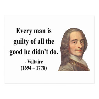 Voltaire Quote 9b Postcard