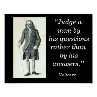 Voltaire quote - art poster