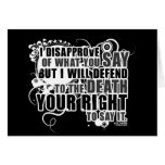 Voltaire Quote (B&W) Greeting Cards