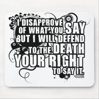 Voltaire Quote (B&W) Mouse Pad