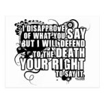 Voltaire Quote (B&W) Post Card