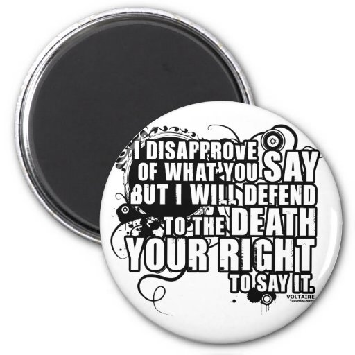 Voltaire Quote (B&W) Refrigerator Magnets