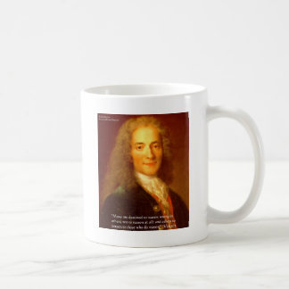 Voltaire Reason Quote Gifts Tees & Cards Coffee Mug
