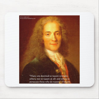 Voltaire Reason Quote Gifts Tees & Cards Mouse Pad
