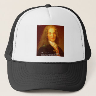 Voltaire Reason Quote Gifts Tees & Cards Trucker Hat