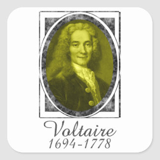 Voltaire Square Sticker