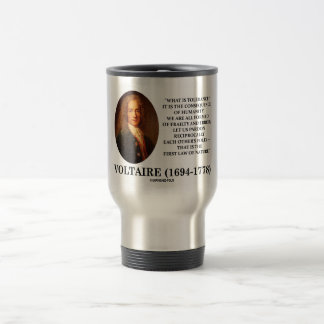 Voltaire What Is Tolerance? Consequence Humanity Travel Mug