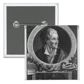Voltaire y el asunto de Calas Pin Cuadrada 5 Cm