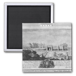 Voltaire's house in Ferney, north side 2 Inch Square Magnet