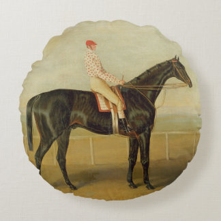 Voltigeur, with Job Marson up Round Pillow