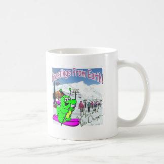 Voltios de esquí del dragón taza de café