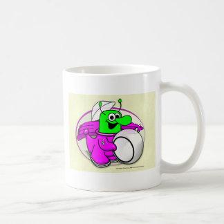 Voltios de héroe del dragón grabado en relieve taza de café