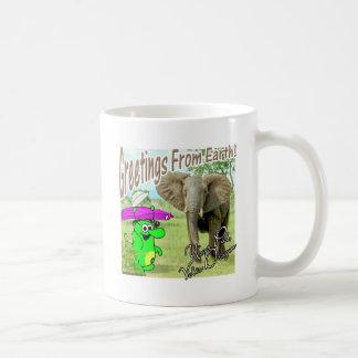 Voltios del dragón de elefante de África Taza De Café