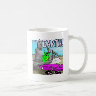Voltios del dragón de isla de pascua taza de café
