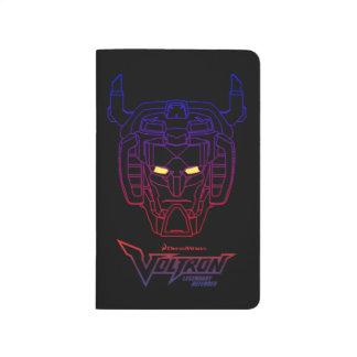 Voltron   Blue-Red Gradient Head Outline Journal