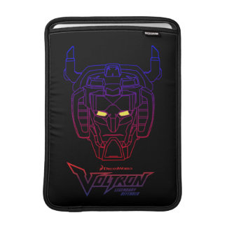 Voltron | Blue-Red Gradient Head Outline MacBook Air Sleeve
