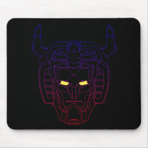 Voltron | Blue-Red Gradient Head Outline Mouse Pad