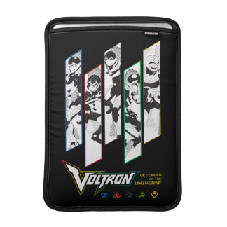 Voltron | Classic Pilots Halftone Panels MacBook Sleeve