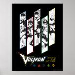 Voltron | Classic Pilots Halftone Panels Poster