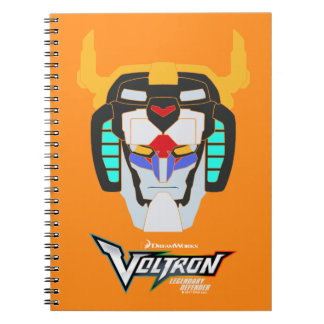 Voltron   Colored Voltron Head Graphic Spiral Notebook