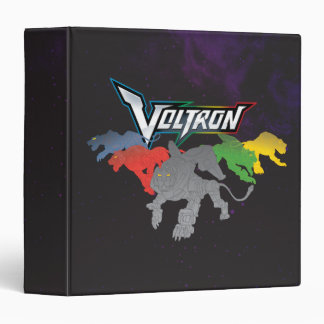 Voltron   Lions Charging 3 Ring Binder