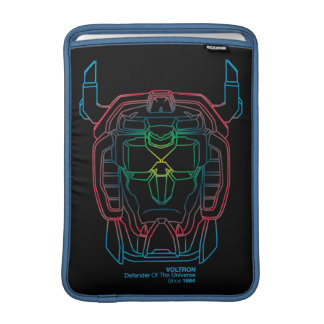 Voltron | Pilot Colors Gradient Head Outline MacBook Air Sleeve