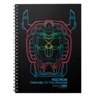 Voltron   Pilot Colors Gradient Head Outline Notebook