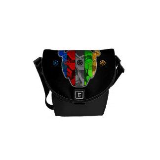 Voltron | Pilots In Voltron Head Messenger Bag