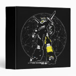Voltron | Silhouette Over Map 3 Ring Binder
