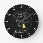Voltron | Silhouette Over Map Round Clock