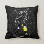 Voltron | Silhouette Over Map Throw Pillow