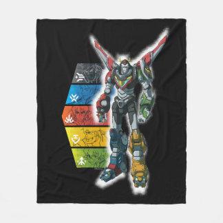 Voltron   Voltron And Pilots Graphic Fleece Blanket