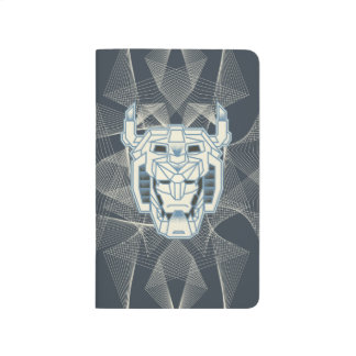 Voltron   Voltron Head Blue and White Outline Journal