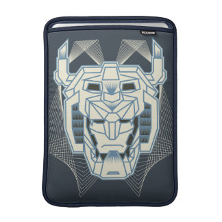 Voltron | Voltron Head Blue and White Outline MacBook Sleeve