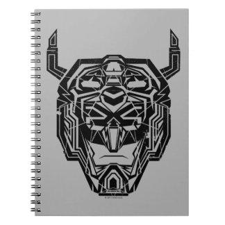 Voltron   Voltron Head Fractured Outline Spiral Notebook