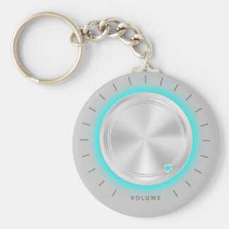 Volume Basic Round Button Keychain