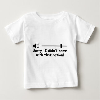 Volume Control Baby T-Shirt
